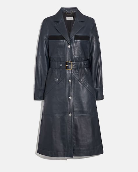 Sporty Leather Trench
