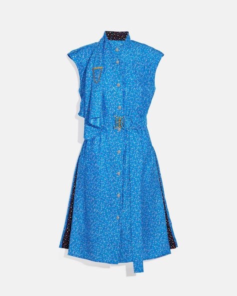 Dot Sleeveless Dress With Belt