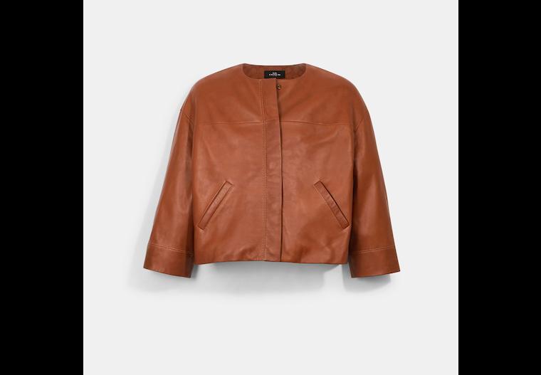 Veste légère en cuir image number 0