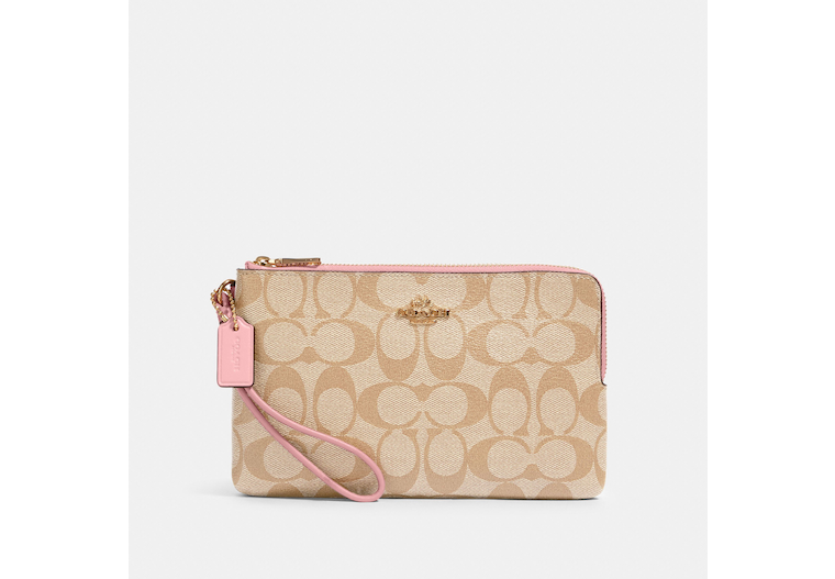 Double Zip Wallet In Signature Canvas image number 0