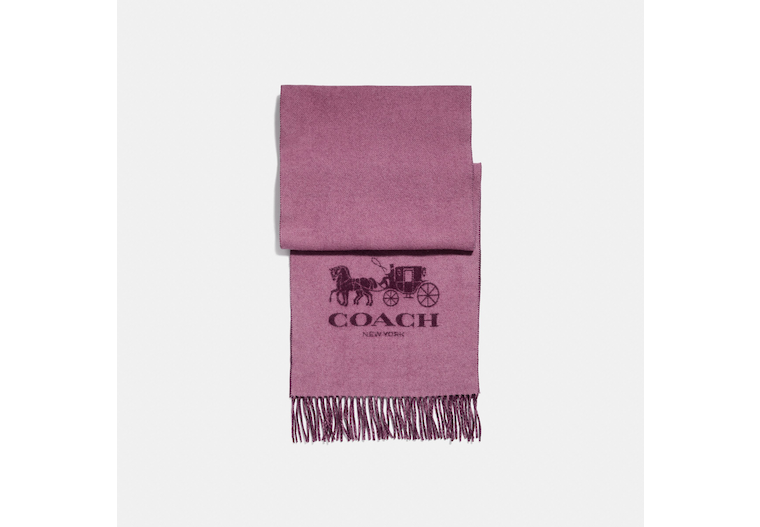 Horse And Carriage Cashmere Muffler image number 0