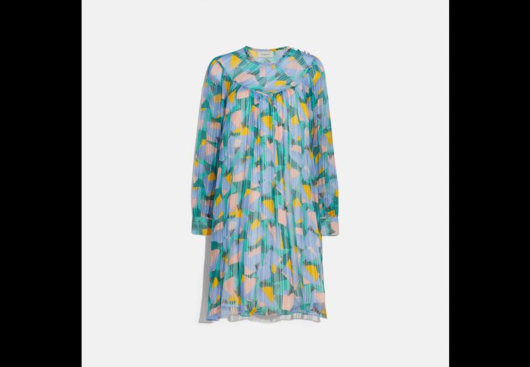 Bold Geo Yoke Mini Dress image number 0