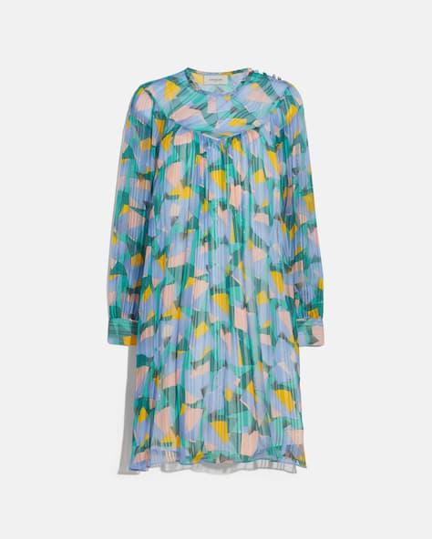 Bold Geo Yoke Mini Dress