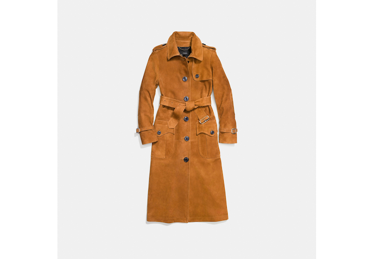 Suede Trench Coat image number 0