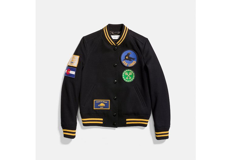 Military Patch Varsity Jacket image number 0