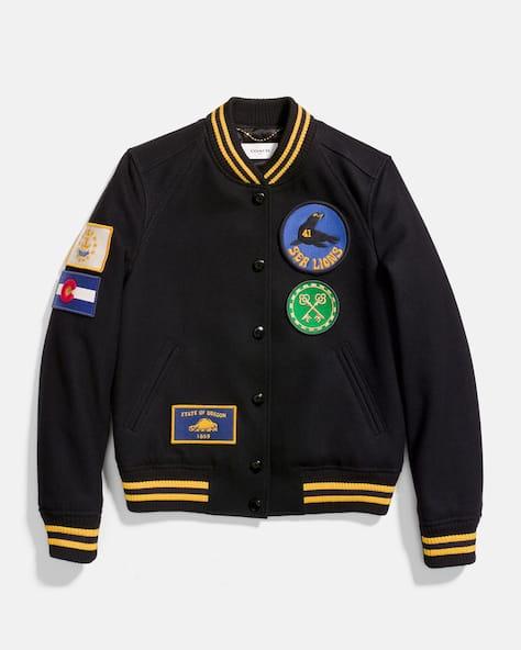 Military Patch Varsity Jacket