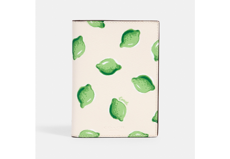 Passport Case With Lime Print image number 0