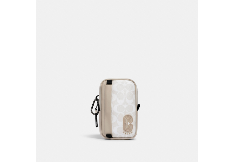 North/South Hybrid Pouch In Colorblock Signature Canvas With Coach Patch image number 0