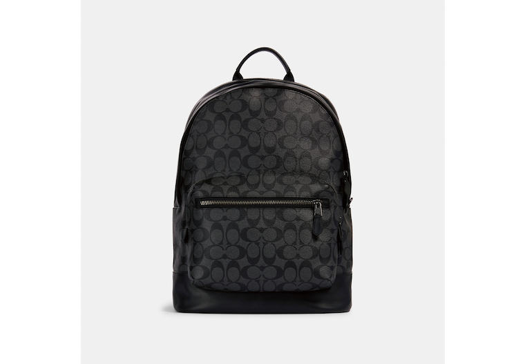 West Backpack In Signature Canvas image number 0