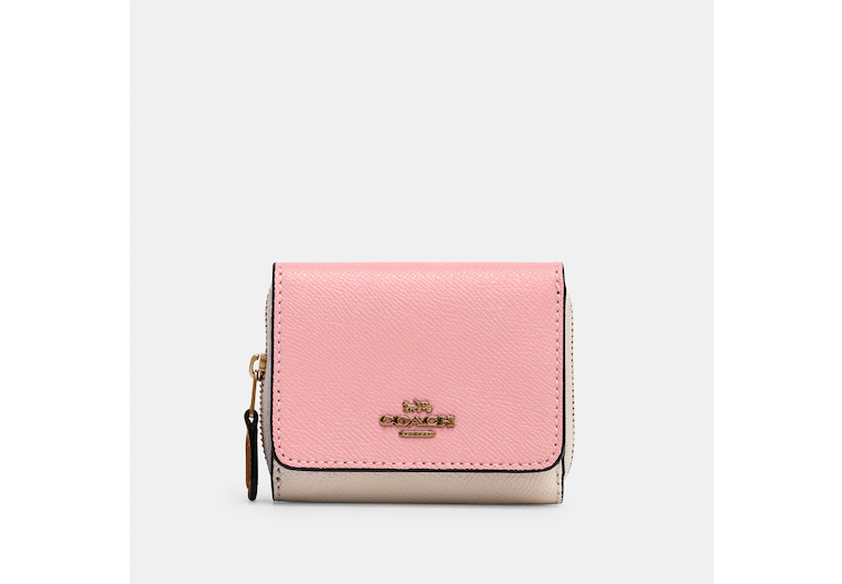 Small Trifold Wallet In Colorblock image number 0
