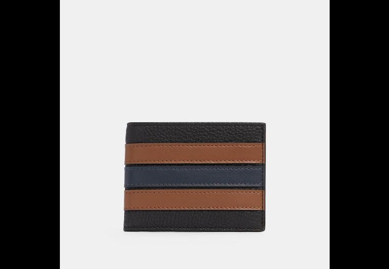 Slim Billfold Wallet With Varsity Stripe image number 0