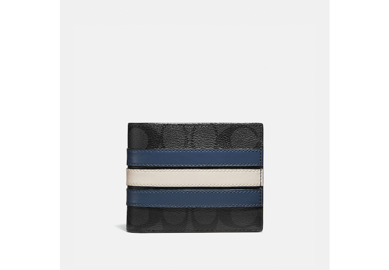 3 In 1 Wallet In Signature Canvas With Varsity Stripe image number 0