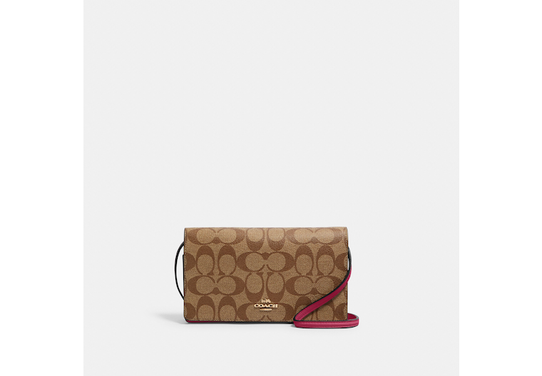 Anna Foldover Crossbody Clutch In Signature Canvas image number 0