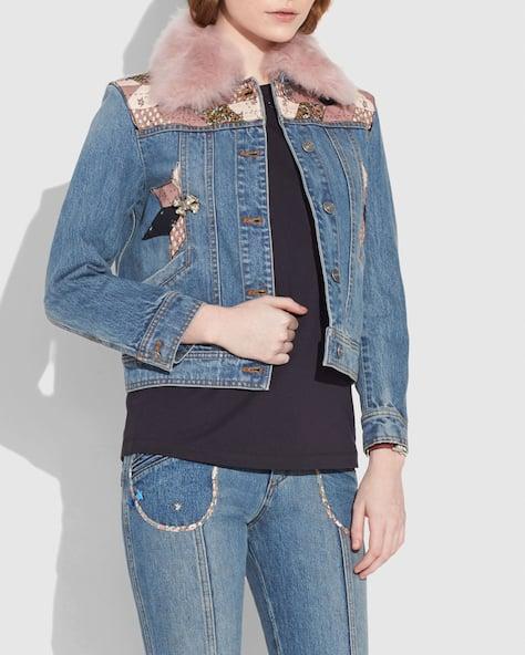Quilted Patchwork Denim Jacket