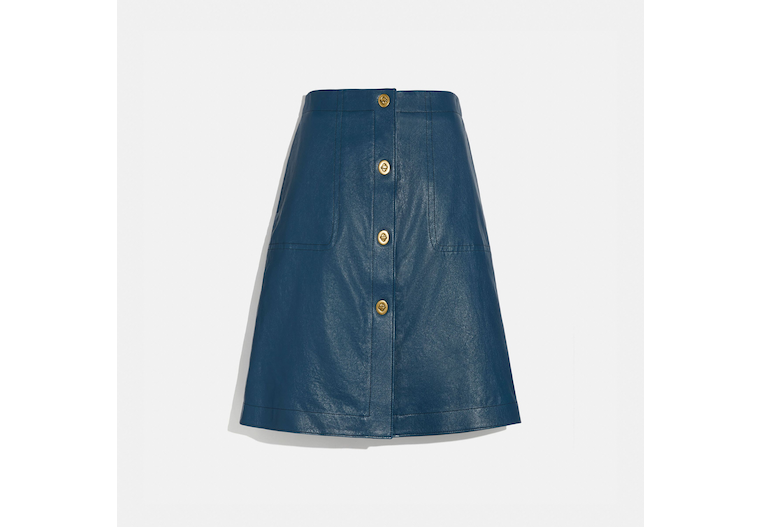 Leather Skirt With Turnlocks image number 0