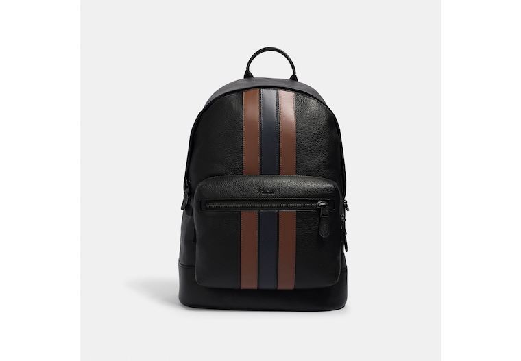West Backpack With Varsity Stripe image number 0