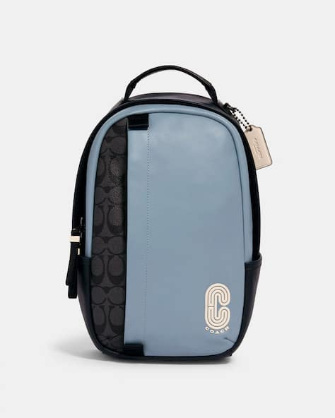 Edge Pack In Colorblock Signature Canvas With Coach Patch