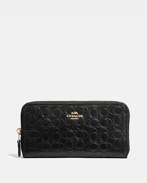 Accordion Zip Wallet In Signature Leather