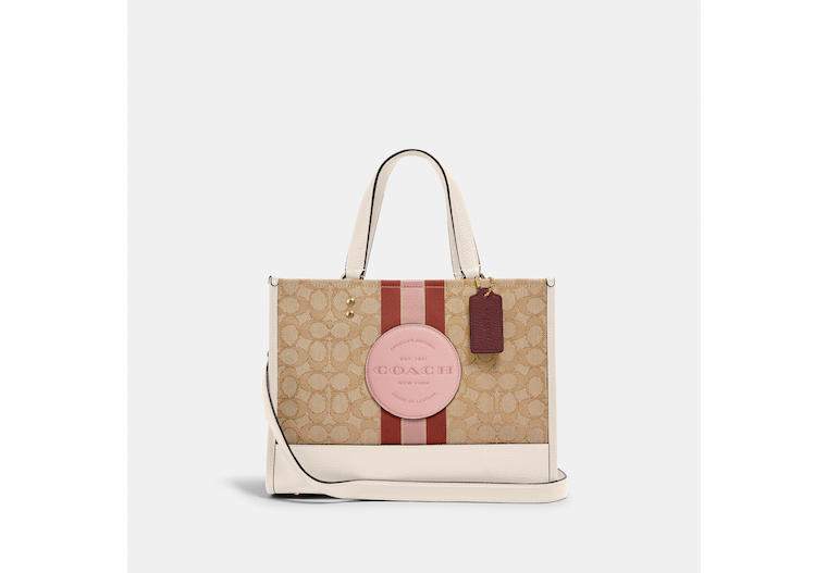 Dempsey Carryall In Signature Jacquard With Stripe And Coach Patch image number 0