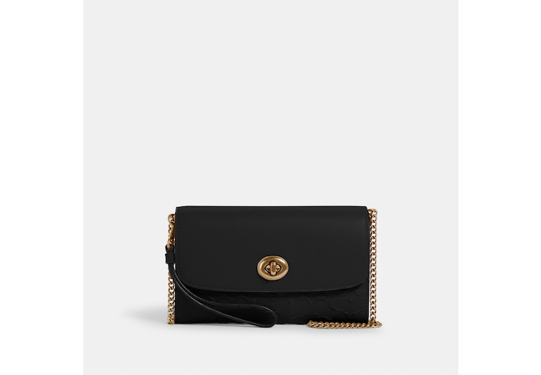 Chain Crossbody In Signature Leather image number 0