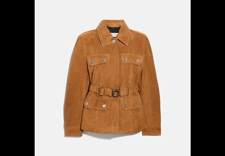 Suede Belted Heritage Jacket image number 0