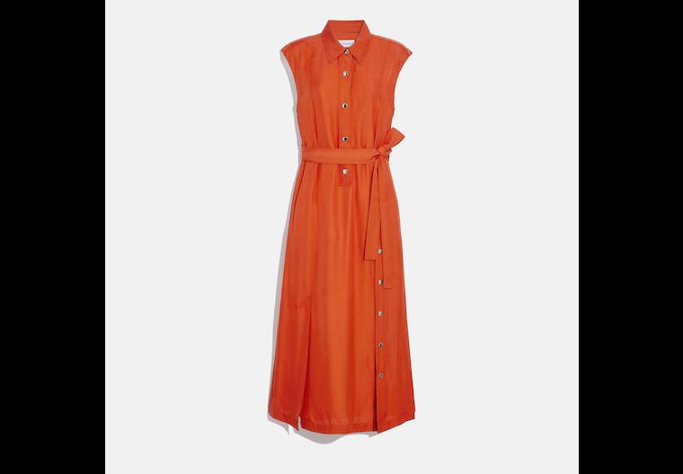 Long Shirt Dress With Side Slit image number 0