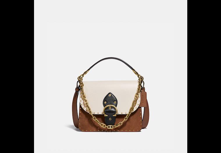 Beat Shoulder Bag In Colorblock With Rivets image number 0