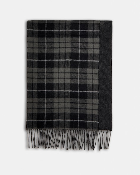 Reversible Horse And Carriage Plaid Print Muffler