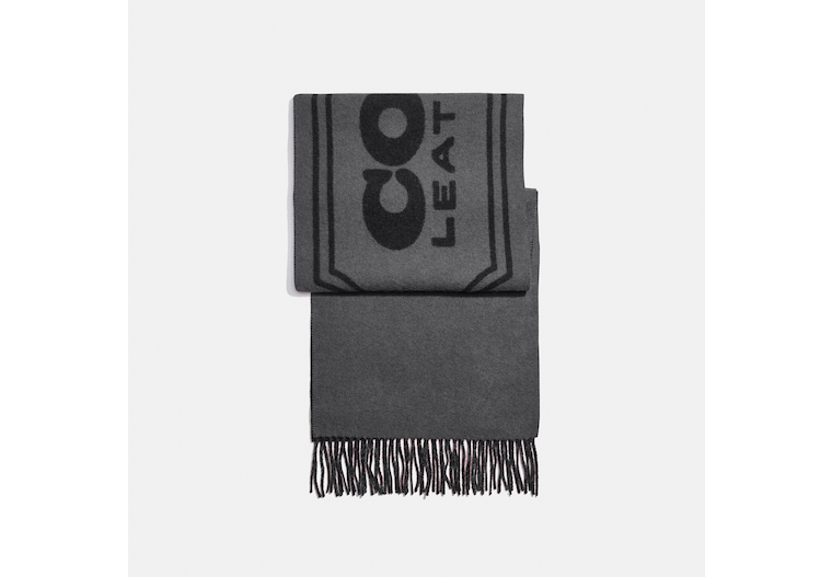 Cashmere Scarf With Coach Badge image number 0