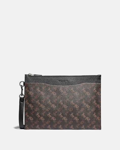 Hitch Pouch With Horse And Carriage Print