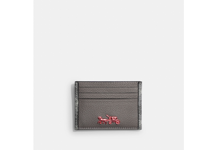 Card Case With Horse And Carriage Print image number 0