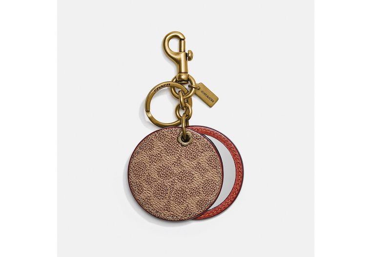 Mirror Bag Charm In Signature Canvas image number 0