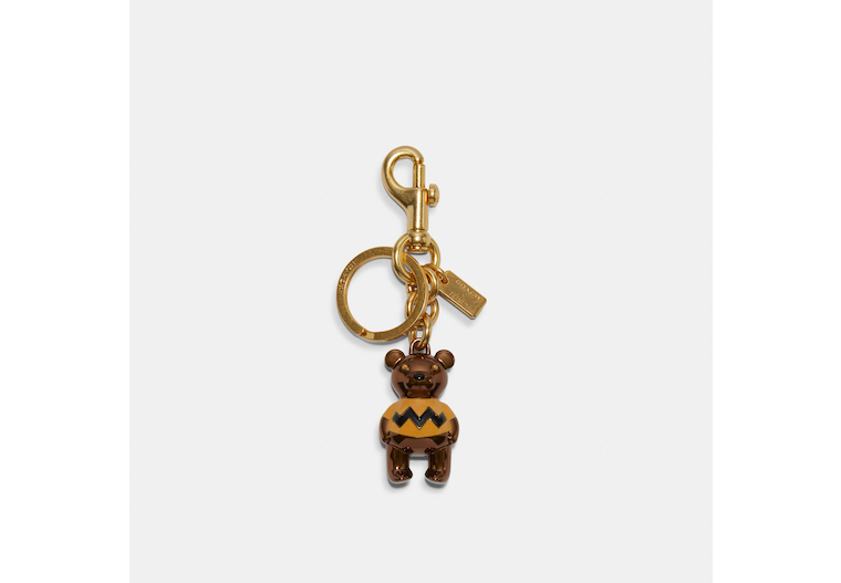 Coach X Peanuts Charlie Brown Bear Bag Charm image number 0