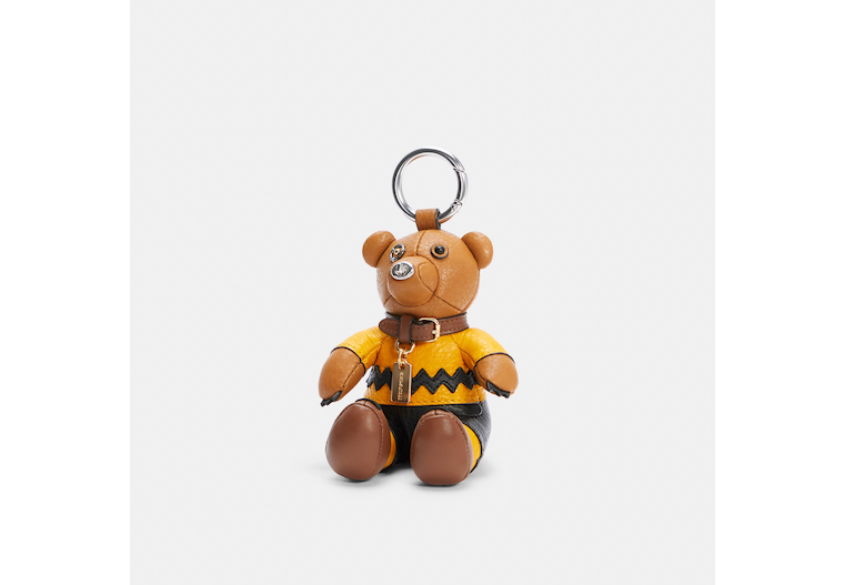 Coach X Peanuts Charlie Brown Bear Collectible Bag Charm image number 0