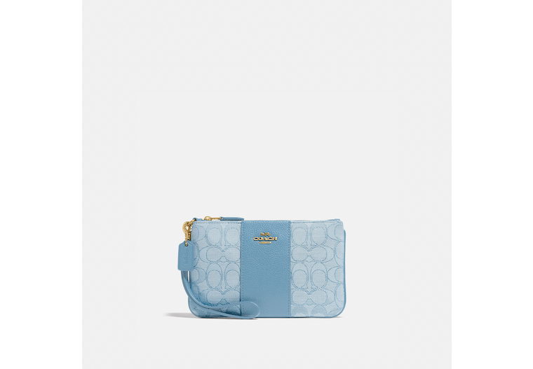Small Wristlet In Signature Jacquard image number 0