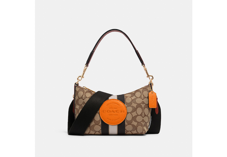 Dempsey Shoulder Bag In Signature Jacquard With Stripe And Patch image number 0