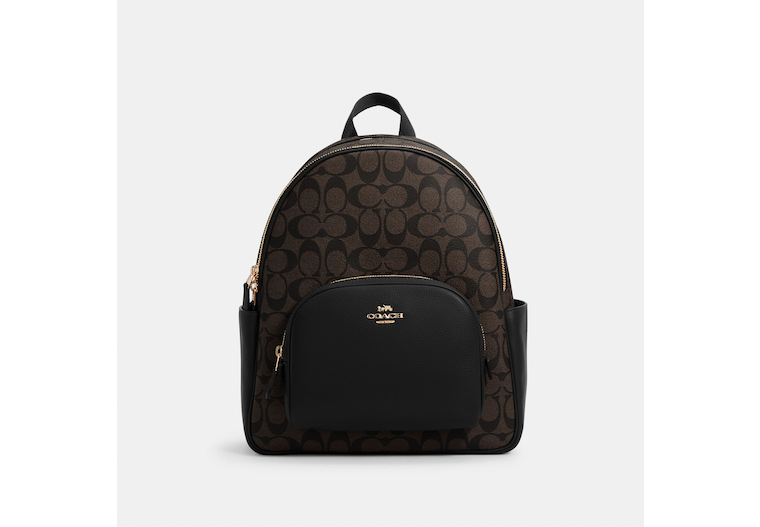 Court Backpack In Signature Canvas image number 0