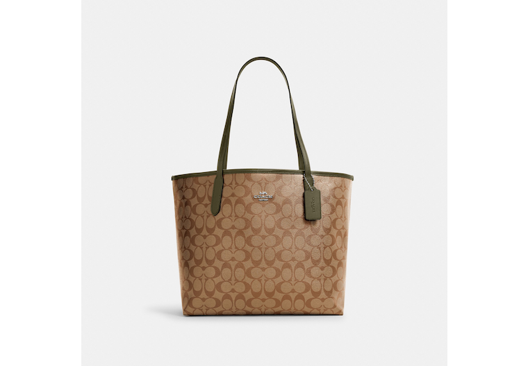 City Tote In Signature Canvas image number 0