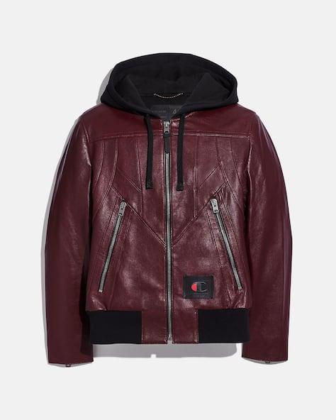 Coach X Champion Leather Jacket