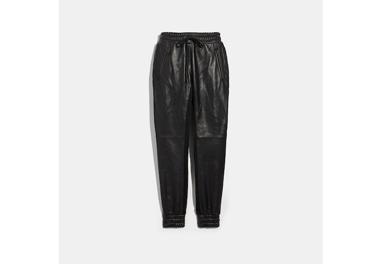 Leather Jogger image number 0