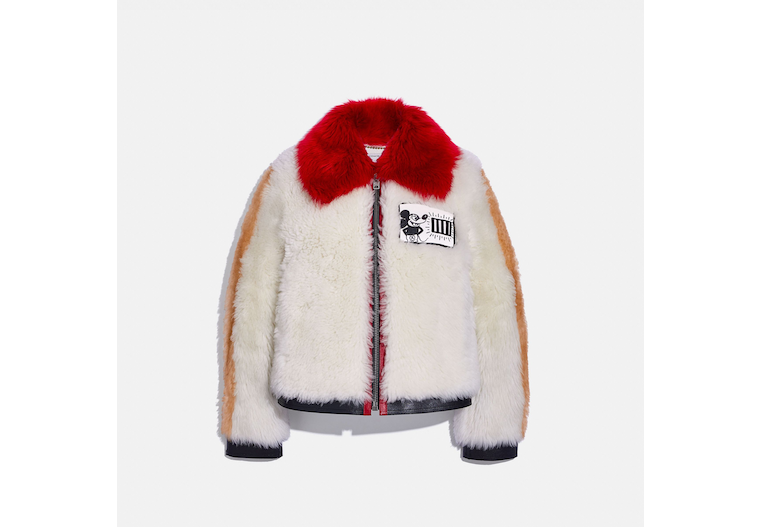 Disney Mickey Mouse X Keith Haring Shearling Jacket image number 0