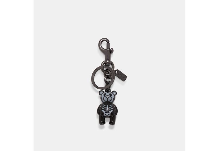 Halloween Skeleton Bear Bag Charm image number 0