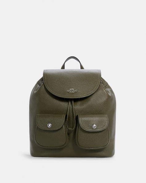 Coach Women's Pebble Leather Pennie Backpack