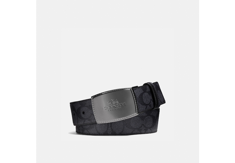 Stitched Plaque Buckle Cut To Size Reversible Belt, 38 Mm image number 0