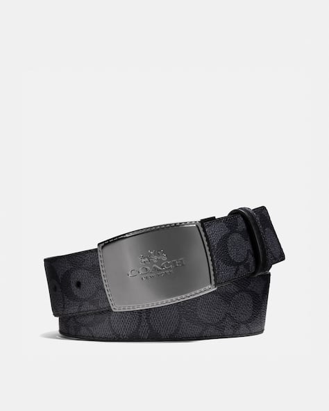 Stitched Plaque Buckle Cut To Size Reversible Belt, 38 Mm