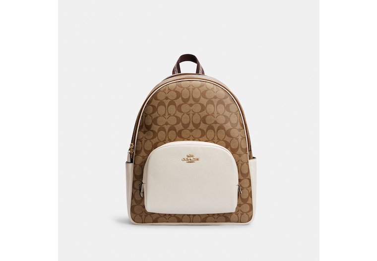 Large Court Backpack In Signature Canvas image number 0