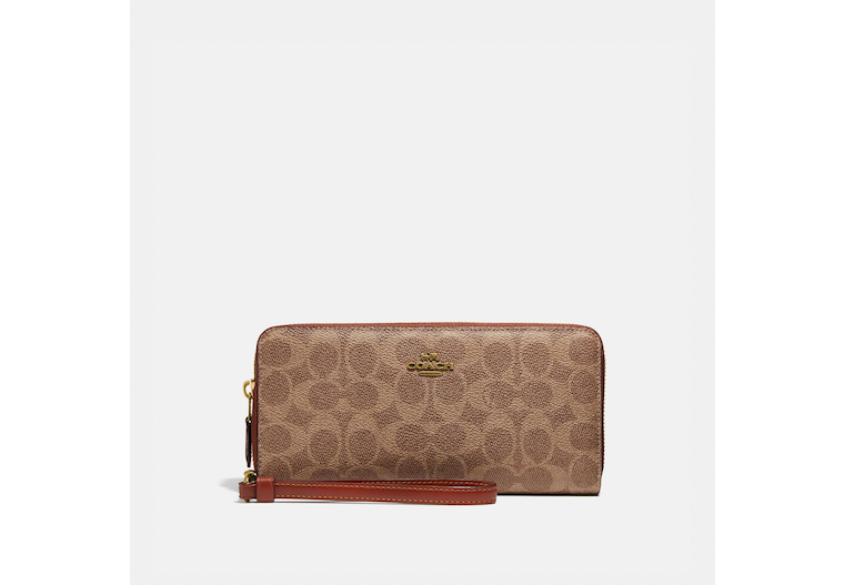 Continental Wallet In Colorblock Signature Canvas image number 0
