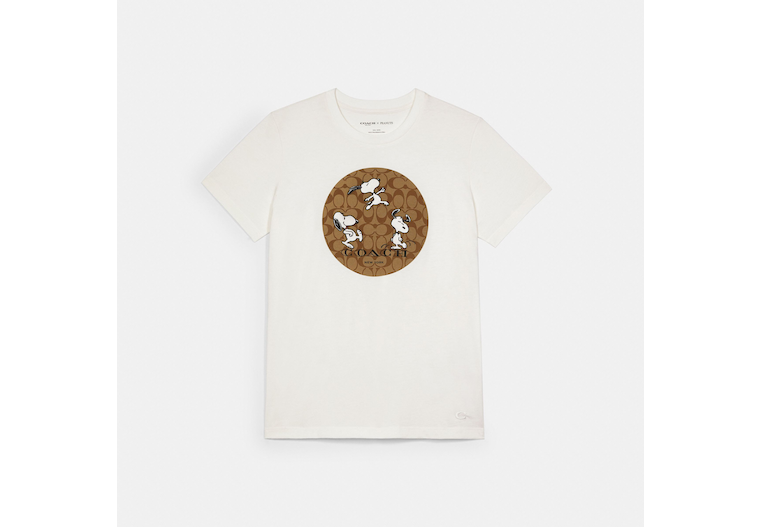 Coach X Peanuts Snoopy Signature T Shirt image number 0