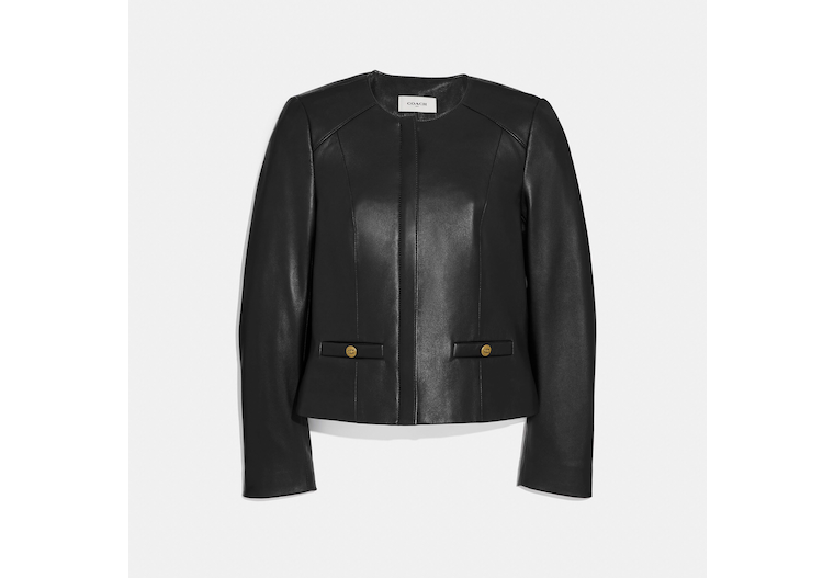 Tailored Leather Jacket image number 0