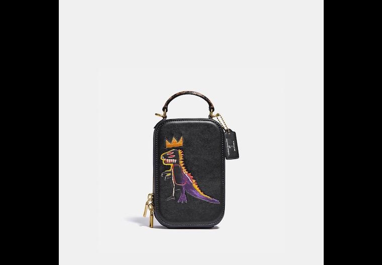 Coach X Jean Michel Basquiat Alie Camera Bag With Snakeskin Detail image number 0